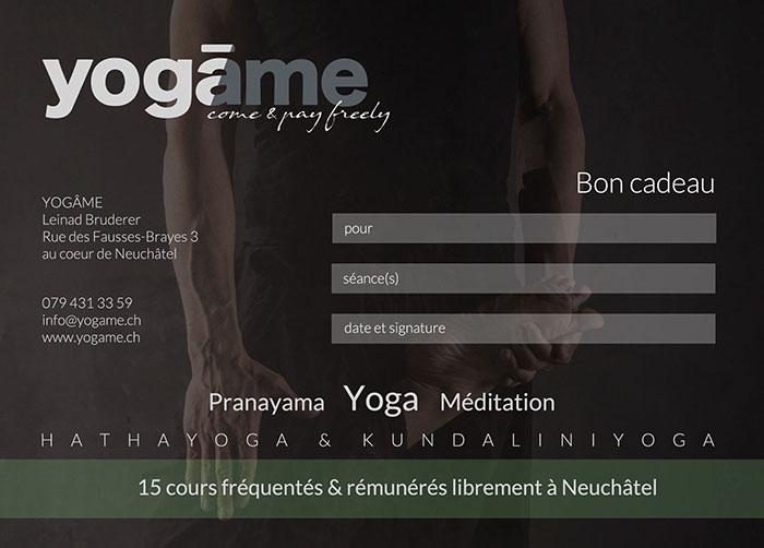 bon cadeau yoga Neuchâtel
